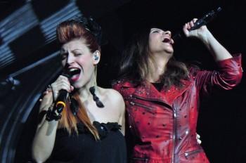Eleonora insieme a Laura Pausini