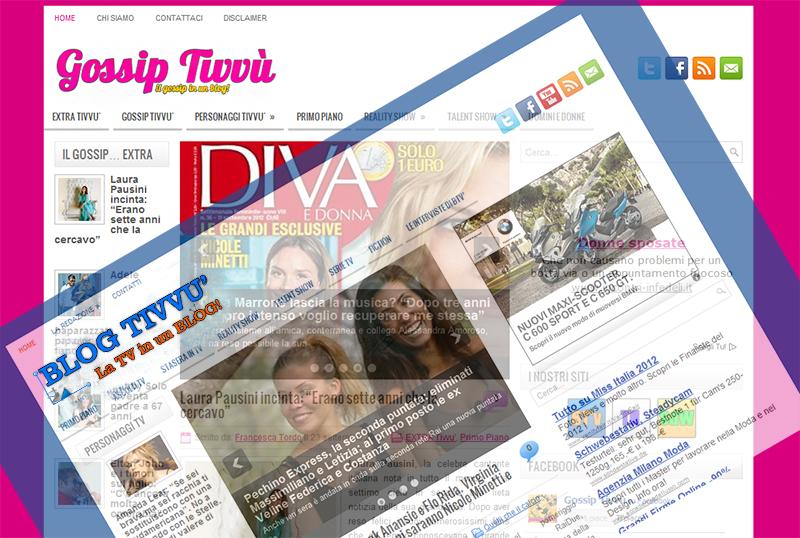 """Blog Tivvù cambia """"volto"""" e presenta Gossip Tivvù, il blog sul lato """"rosa"""" della Tv"""