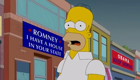 I Simpson, Homer chiamato a votare: preferisce Mitt Romney a Barack Obama ma poi se ne pente – VIDEO