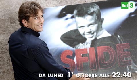 Sfide, la trasmissione sugli eroi dello sport, da stasera su RaiTre con Alex Zanardi. Nella prima puntata, la vita di Gilles Villeneuve