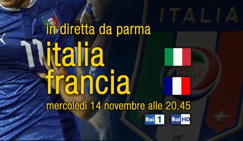 Calcio in Tv, Amichevole Italia-Francia, stasera su RaiUno e Rai HD