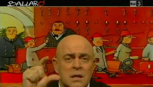 Ballarò, la copertina satirica di Maurizio Crozza, puntata dell'11 dicembre 2012 – VIDEO