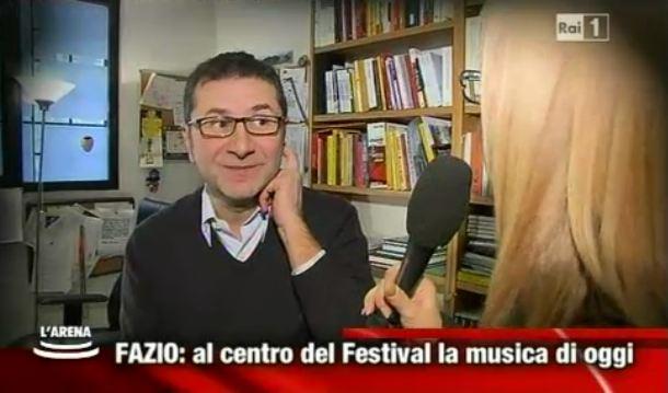 """Festival di Sanremo 2013, Fabio Fazio a L'Arena: """"I superospiti? Le canzoni. Siamo in spending review"""" – VIDEO"""