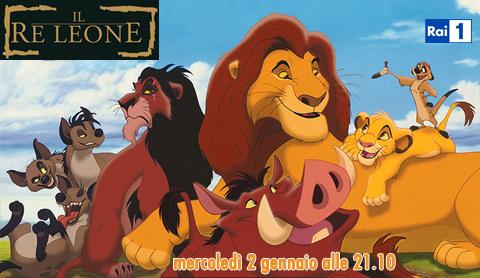 Il Re Leone, stasera su RaiUno in prima visione ed in HD