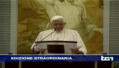 Il Papa si dimette: ecco come cambiano i palinsesti. Tutti gli appuntamenti in tv: Speciale Porta a Porta, Terra e programmazione Sky