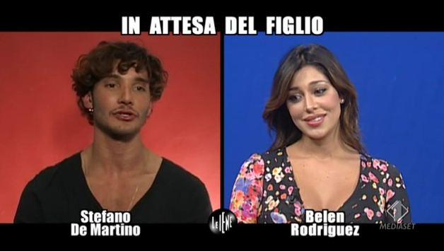 A Le Iene, l'intervista doppia a Belen Rodriguez e Stefano De Martino: il loro primo bacio nel camerino di Mara Maionchi – VIDEO