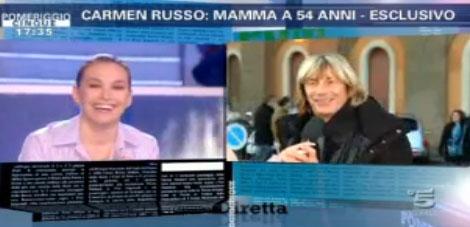 E' nata la figlia di Carmen Russo: il reality continua a Pomeriggio Cinque