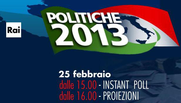 Elezioni 2013 in tv, tutti gli appuntamenti Rai: instant poll, proiezioni e speciali; Speciale Porta a Porta, stasera su RaiUno