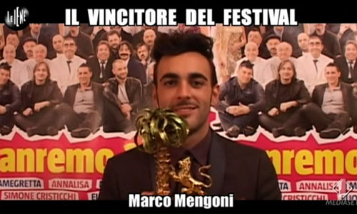 Marco Mengoni intervistato da Le Iene dopo la vittoria al Festival di Sanremo – VIDEO