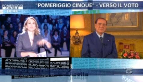 """Pomeriggio Cinque, Barbara D'Urso intervista Silvio Berlusconi; sull'Imu: """"Con questa lettera ho dato un modello ai politici italiani"""""""