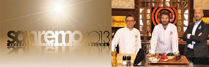 """Sanremo 2013, tranne Masterchef, durante la kermesse tutti i programmi hanno detto: """"Stop"""""""