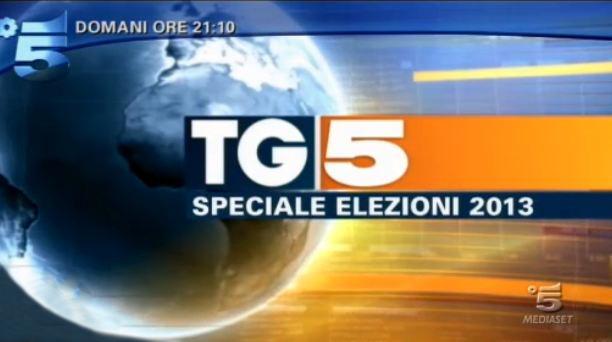 Elezioni 2013 in tv: la programmazione Mediaset; Speciale Tg5 – Elezioni 2013 stasera su Canale 5