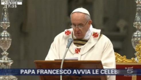 Pomeriggio Cinque: Papa Francesco, al via le celebrazioni pasquali ma senza telecamera – FOTO