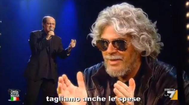 Crozza nel Paese delle Meraviglie: l'incontro tra Bersani e Grillo – VIDEO