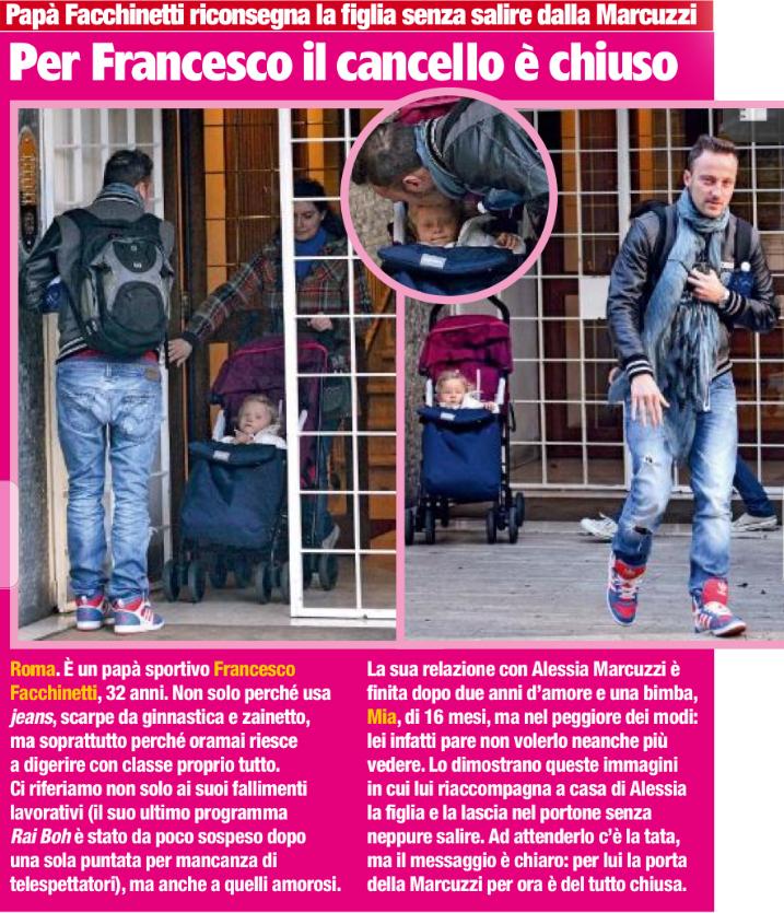 Francesco Facchinetti al centro dei gossip spazzatura, dopo il presunto flirt con Nicole Minetti l'accusano di abbandonare la figlia
