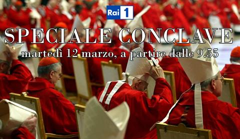 Conclave in tv: tutti gli appuntamenti di oggi sulle reti Rai