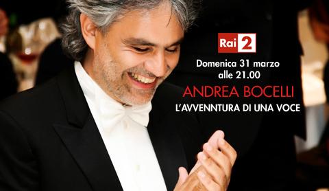 """Andrea Bocelli – L'avventura di una voce, stasera su RaiDue lo speciale ed in esclusiva, il duetto """"virtuale"""" con Fiorello"""
