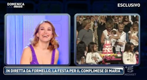 A Domenica Live, il secondo complimese di Maria, figlia di Carmen Russo e Enzo Paolo Turchi – FOTO