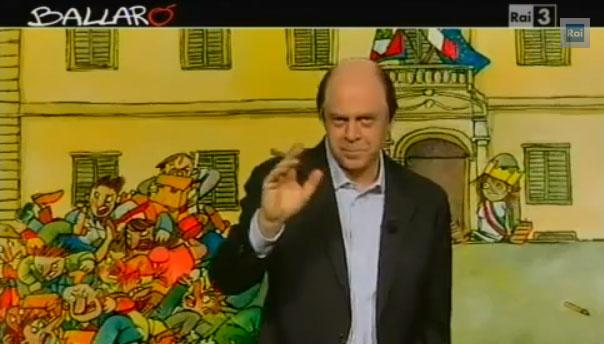 Ballarò, puntata del 9 aprile: copertina satirica di Maurizio Crozza sull'incontro tra Bersani e Berlusconi – VIDEO