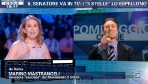 """Pomeriggio Cinque, Marino Mastrangeli da Barbara D'Urso: """"Sono ancora un senatore del M5S"""""""