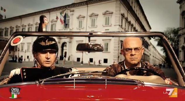 Crozza nel Paese delle Meraviglie: il ritorno di Giorgio Napolitano e l'annuncio di Letta al Governo – FOTO