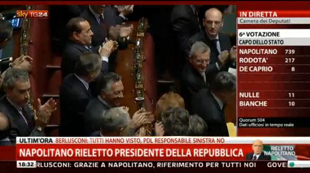 Giorgio Napolitano nuovo Presidente della Repubblica: stasera lo speciale Porta a Porta su RaiUno