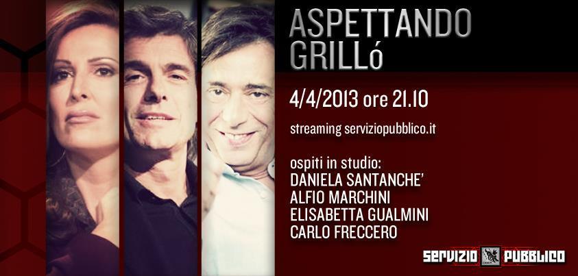 """Servizio Pubblico, puntata di stasera 4 aprile """"Aspettando Grillò"""": polemica in rete in merito agli ospiti"""