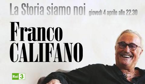 """La Storia siamo Noi: omaggio a Franco Califano stasera su RaiTre. Fiorello: """"Siamo rinati insieme, ci siamo divertiti molto"""""""