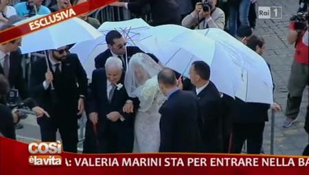 Il matrimonio di Valeria Marini in diretta tv a Domenica In – FOTO