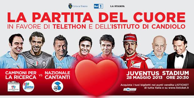 La Partita del cuore 2013, stasera su RaiUno la Nazionale Cantanti contro il Team Campioni per la Ricerca