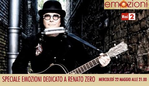 Speciale Emozioni dedicato a Renato Zero, stasera su RaiDue