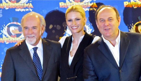 Paperissima torna anche nella prossima stagione; intanto Gerry Scotti affianca Belen Rodriguez in uno spot tv