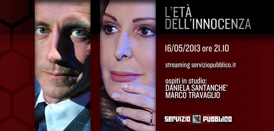 Servizio Pubblico, puntata di stasera 16 maggio: Daniela Santanchè unica ospite insieme a Marco Travaglio