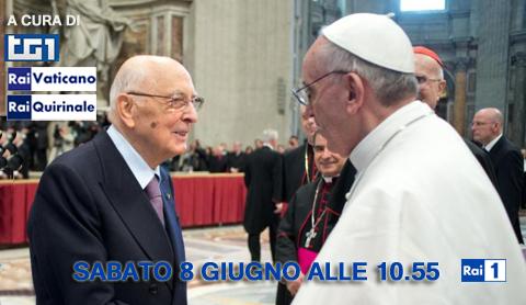 Papa Francesco incontra Giorgio Napolitano: la diretta tv su RaiUno