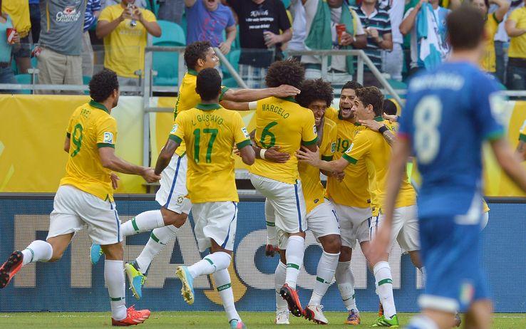 Ascolti Tv, 22 giugno 2013: Italia-Brasile a 9,3 mln contro il classico Via col vento a 1,2 mln