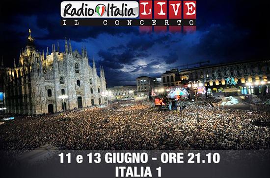 RadioItaliaLive, Il Concerto: questa sera e giovedì 13 giugno in onda su Italia 1