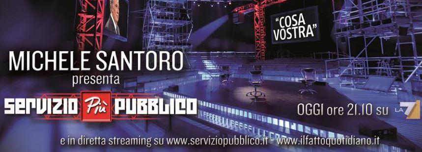 Servizio Pubblico Più, da stasera il primo speciale con Michele Santoro: Cosa Vostra