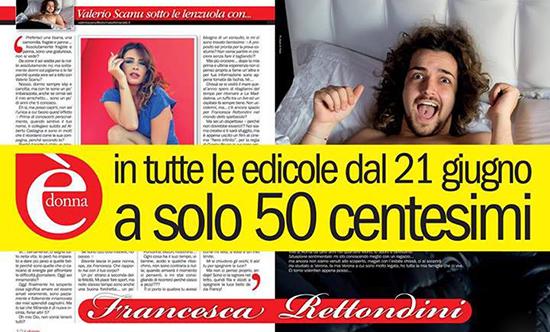Valerio Scanu protagonista di una nuova rubrica piccante: intervista le Vip sotto le lenzuola