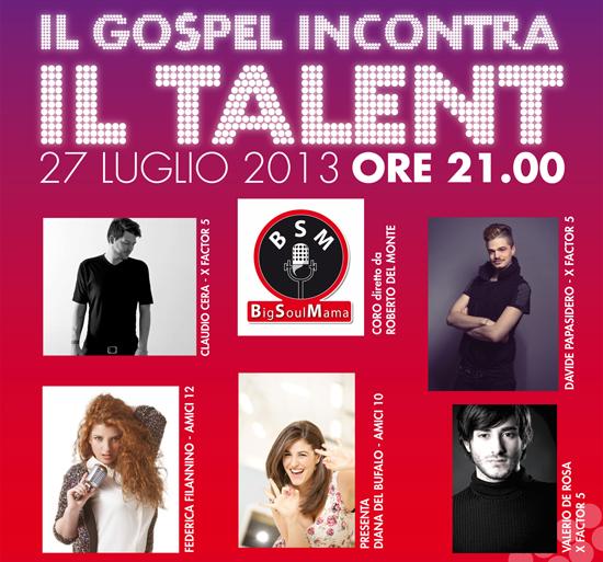 """I talenti di Amici e X Factor sul palco per """"Il Gospel incontra il Talent"""""""