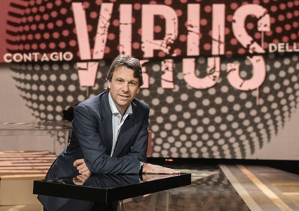 Virus, stasera nuova puntata sulla sentenza Berlusconi; Daniela Santanché, Giuliano Ferrara e Peter Gomez tre gli ospiti