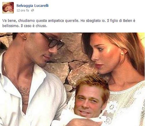 """Quando Selvaggia Lucarelli non fa più ridere? Annoia! """"Con il DNA di Belen, Santiago poteva venì fuori più bello"""""""