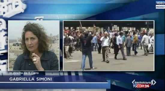 """Egitto, rilasciata l'inviata Mediaset Gabriella Simoni: """"Sono state ore di angoscia"""""""
