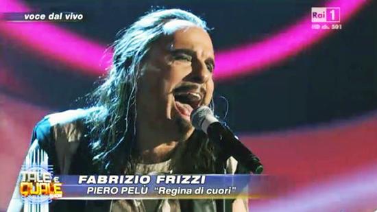 Tale e Quale Show: Fabrizio Frizzi e l'imitazione di Piero Pelù conquistano il primo posto, la giuria e il pubblico – VIDEO