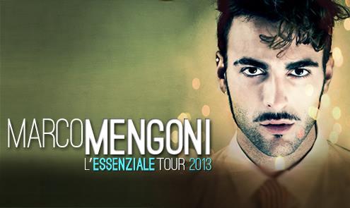 Marco Mengoni e L'Essenziale Tour 2013: sold out e strepitoso successo. Ecco le nuove date dal 25 settembre