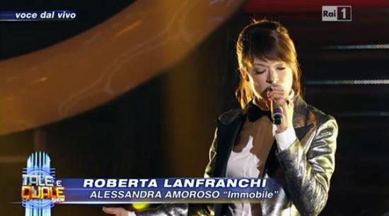Tale e Quale Show: Roberta Lanfranchi imita Alessandra Amoroso – VIDEO