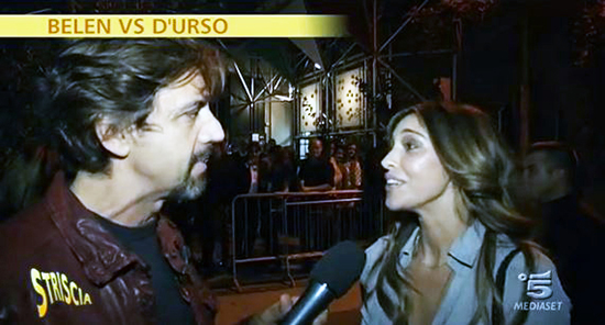"""Belen Rodriguez ed il Tapiro di Striscia """"Barbara d'Urso ha chiesto la censura, avrebbe querelato sia me che Mediaset"""""""