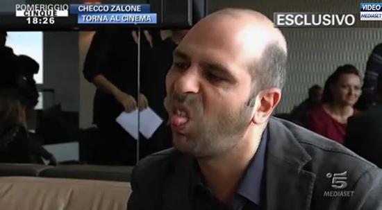 Checco Zalone litiga a suon di grammatica con la giornalista di Pomeriggio Cinque
