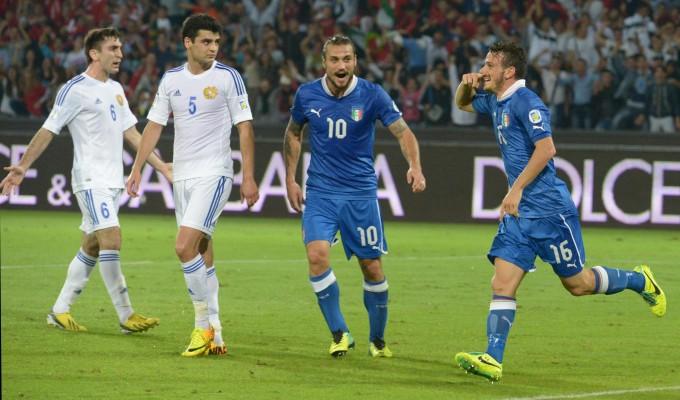Ascolti Tv, 15 ottobre 2013: Italia-Armenia a 7,9 mln; Ballarò a 3,5 mln; La Cortigiana a 2,9 mln