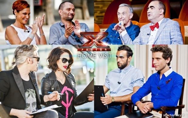 X Factor 7, quarta puntata Home Visit: Marco Mengoni, Linus, Boosta e Asia Argento insieme ai giudici nella scelta finale