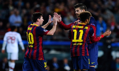 Ascolti Tv, 6 novembre 2013: Barcellona-Milan a 5,3 mln; Ex a 4 mln
